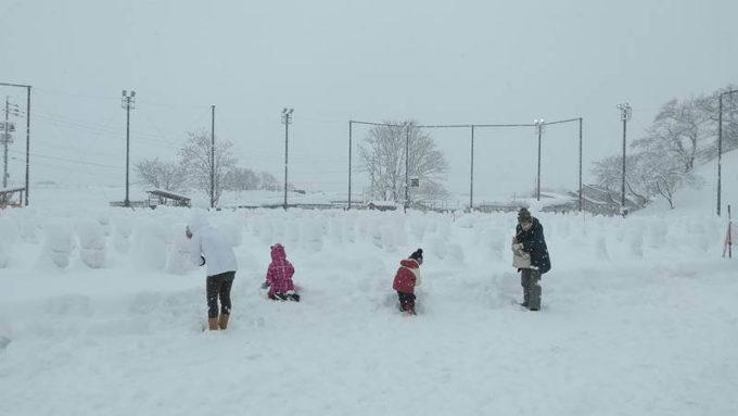 飯山雪まつり「雪だるまギネス」