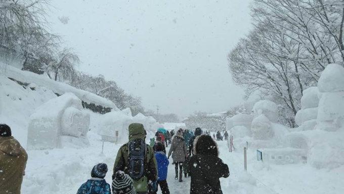 飯山雪まつり雪像エリア