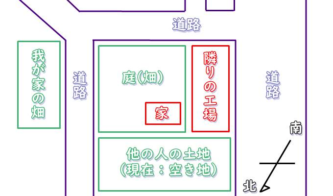 我が家の周辺略図