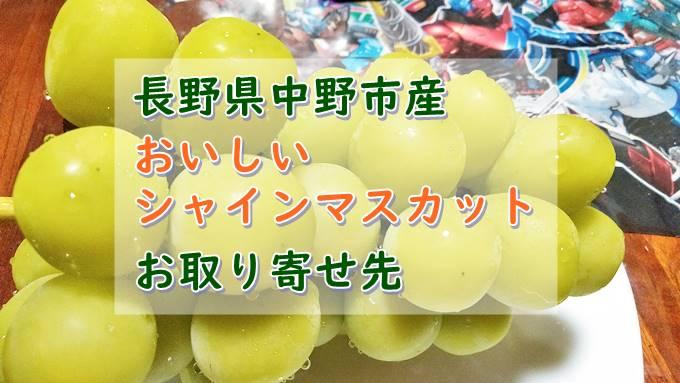 長野県中野市産のおいしいシャインマスカットがお取り寄せできるところ