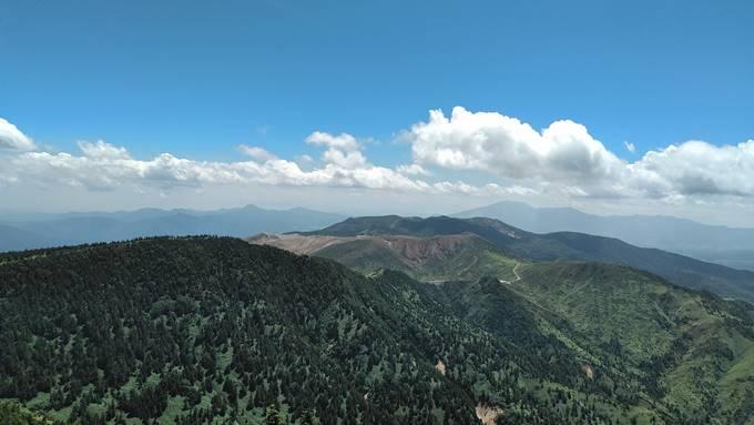 パワースポットから見える草津白根山