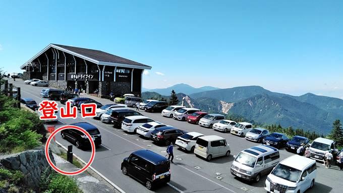志賀高原横手山の登山口