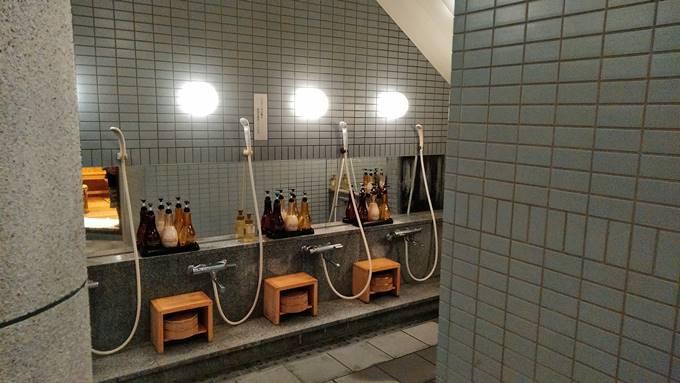 最勝の湯の洗い場