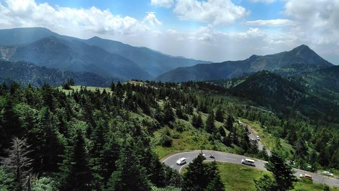 横手ドライブイン山展望レストランからの眺め