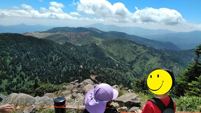 横手山神社からの眺め