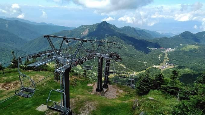 横手山山頂展望台からの眺め