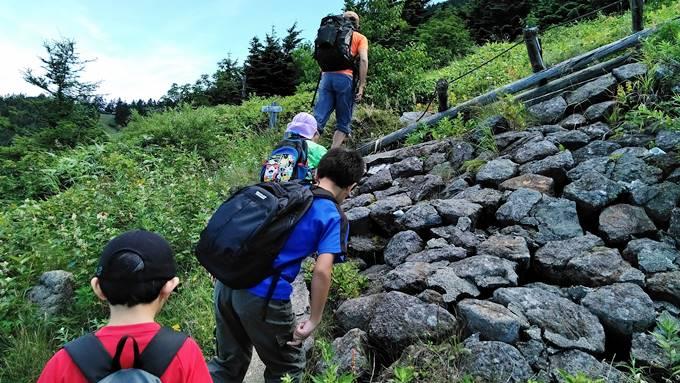横手山登山開始
