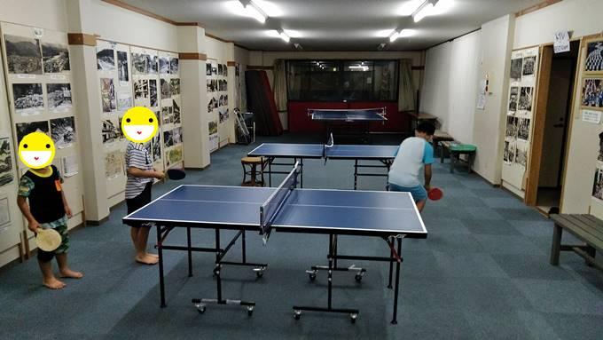 渋温泉の無料卓球場