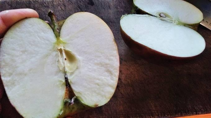 無農薬りんご試食