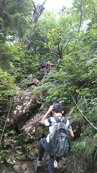 長野県志賀高原笠ヶ岳の登山