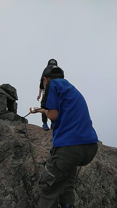 笠ヶ岳の山頂